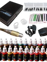 Solong tatouage kit sourcil machine de maquillage permanent tatouage 23 aiguille encre ek709-4