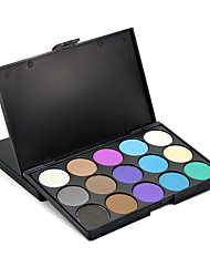 15 Eyeshadow Palette Matte Shimmer Natrual Nude Eye Shadow Makeup Powder Daily Smokey Halloween Look Party Cosmetic Set Kit