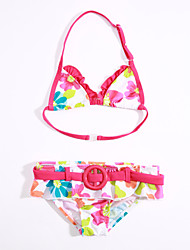 Girls' Floral Print Swimwear,Cotton