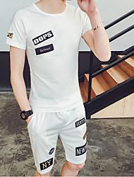 Tee-shirt Homme,Couleur Pleine Imprimé Bureau/Carrière Athlétique Autre Quotidien Décontracté simple Chic de Rue Actif Eté Manches Courtes