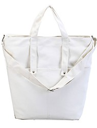 Women Shoulder Bag Canvas All Seasons Casual Shopper Magnetic White Pool