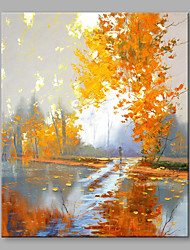 IARTS Hand Painted Modern Landscape Yellow Leaves in The Autumn on Canvas Oil Painting for Modern Wall Decoration