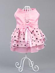 Chien Robe Vêtements pour Chien Soirée Décontracté / Quotidien Princesse Vert Rose