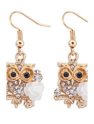 Women's Drop Earrings Rhinestone Unique Design Flower Style Dangling Style Animal Design Cute Style Euramerican Fashion Personalized
