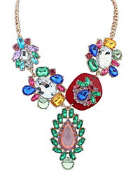 Multicolor Bohemian Africa Gemstone Women's Beach Y-Necklaces Long Pendant Necklace Statement Jewelry