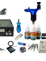 Begginer Tattoo Kit 1 Machine With Digital Power Cord Inks Switch G1C15R6
