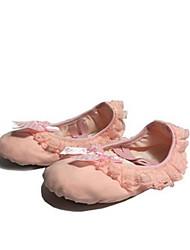 Non Personnalisables Femme Ballet Dentelle Toile Plates Entraînement Fuchsia Rose