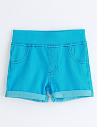Girls' Solid Color Shorts-Cotton Summer