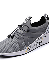 Running Shoes Men's Athletic Shoes Comfort Breathable Mesh All Seasons Athletic Casual Outdoor  Comfort Gore Flat Heel Blue Gray Black Flat