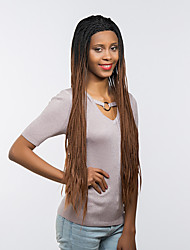 MAYSU New Style   Perfect  Black Brown Hair Front lace Synthetic Wig