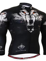 Homme Vélo Vêtements de Compression/Sous maillot Cyclisme Spandex Rayé Hiver Cyclisme/Vélo Noir