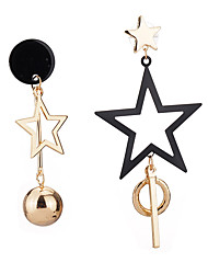 Drop Earrings Women's Girls' Tassel Star Boll Movie Jewelry Euramerican Fashion Personalized Party Dailywear Statement Gift Jewelry