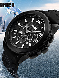 Women's Men's Fashion Sport Watch 30M Waterproof Silicone Strap 3 Dials Man Wristwatches Relogio Masculino Clock Quartz Watches