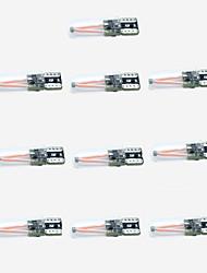 10pcs met en surbrillance t10 2cob largeur lampe 150lm couleur rose décodage largeur de conduite lumière dc10-30v