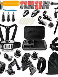 QQT for Go pro Accessories Set Helmet Belt  chest strap For Go pro Hero 5 4 3  2 1 Xiaomi Yi SJ4000 Action Camera accessories