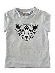 Boys' Print Tee Cotton Summer Short Sleeve Regular Leopard Kids Boys T Shirt Tops