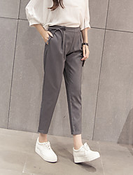 Women's High Rise Micro-elastic Skinny Business Pants,Simple Slim Bootcut Bow Solid
