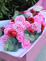 Romantic Rose Flowers For Gift Party Decoration With Nice Box Gift