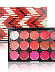 Professional Lip Kit Pink Red Nude Lipstick 15 Color Gloss Cream Matt Shimmer Paint Palette Set Cosmetic Party Makeup Waterproof Beauty
