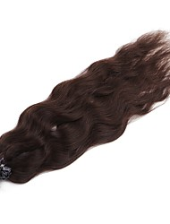 Neitsi 20'' 50g/lot 1g/s Natural Wave Keratin Fusion U Tip Human Hair Extensions Curly Pre bonded Hair Dark Brown#
