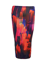 Women's Beach Going out Casual/Daily Holiday Midi Skirts,Street chic Bodycon Floral Print Summer