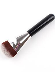 1pç Pincel para Pó Pincel para Base Pêlo Sintético Alumínio Madeira Cara