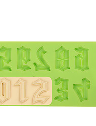 Warcraft Movies Font Cake Decoration Tools Silicone Number Mold Fondant Mold for Chocolate Fimo Clay