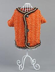 Dog Coat Dog Clothes Casual/Daily Princess Orange Black White