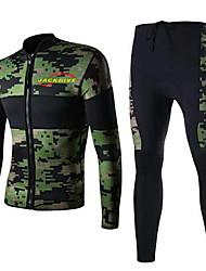 Men's 3mm Full Wetsuit Sports Terylene Diving Suit Long Sleeve Diving Suits-Diving & Snorkeling All Seasons Camouflage Color