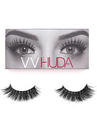 VVHUDA 3D Mink Eyelashes Upper Mink Lashes Soft Black Natural Thick False Lashes Handmade Fake Eye Makeup Extension Samantha