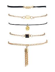 Femme Chaînes & Bracelets Charmes pour Bracelets Bracelets de rive Mode Style Punk Gothique Alliage de métal Résine Strass AlliageForme