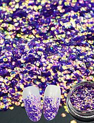 1g/Bottle Fashion Hexagon Glitter Noble Design Nail Art Sparkling Sequins 3D Flash Gorgeous Purple Mermaid Effect Manicure DIY Decoration TL-H