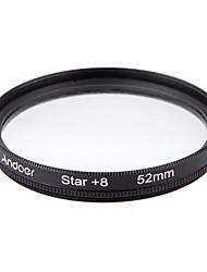 Andoer 52mm filtro set uv cpl star kit a 8 punti kit con custodia per Canon Nikon Canon dslr lente fotocamera
