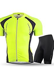 Maillot de Ciclismo con Shorts Para Hombre Adulto Manga Corta Bicicleta Sets de Prendas Ciclismo Gimnasio, Correr & Yoga Correa anti