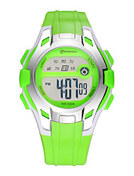 Kid's Sport Watch Digital Watch Digital Water Resistant / Water Proof Rubber Band Blue Red Green Purple