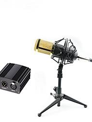 Micrófono de condensador bm 800 profesional micrófono de grabación vocal de estudio de audio pro con 48v phantom power