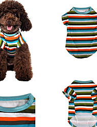 Dog Shirt / T-Shirt Dog Clothes Casual/Daily Stripe Stripe Rainbow Jade