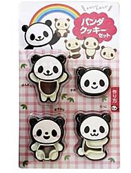 4pcs set panda cake biscoito cortador molde cozinha biscoito mofo