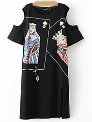 Для женщин Для вечеринок С летящей юбкой Платье Цветочный принт,V-образный вырез Макси Рукав 3/4 Другое Весна Лето Со стандартной талией