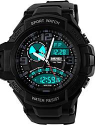 Smart Watch Etanche Longue Veille Sportif Multifonction Chronomètre Fonction réveille Calendrier Double Fuseaux Horaires Chronographe