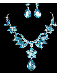 Women's Jewelry Set Rhinestone Pendant Rhinestone Alloy Flower For Wedding Party Special Occasion Anniversary Birthday Wedding Gifts