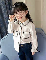 Girls' Striped Shirt,Cotton Spring Fall Long Sleeve Regular