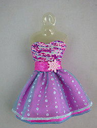 Fashion Dress with Polka dots For Barbie Doll For Girl's Doll Toy