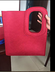 Women Tote Nonwoven All Seasons Casual Outdoor Square Hook and Loop Ruby Azure Black