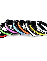 Collar Reflective Portable Safety Solid Nylon Dog Collar LED Multi color