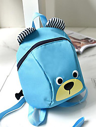 Kids Bags All Seasons Nylon Backpack with for Casual Blue Black Red Fuchsia