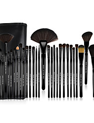 Make-up For You® Set di pennelli professionali da trucco, setole di pony (32 pezzi)