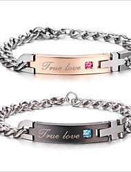 Pair Bracelet Drop Shipping Unique Gift For Lover Couple Bracelets Titanium Steel Bracelets For Women Men Jewelry
