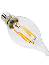 4W Luci LED a candela CA35 4 COB 300-400 lm Bianco caldo Oscurabile Decorativo AC 220-240 V 1 pezzo