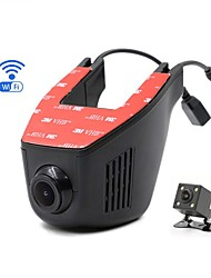 Generalplus (Taiwan) HD 1280 x 720 1080p DVR de voiture Aucun écran (sortie par APP) Écran 1024 Caméra de Tableau de Bord